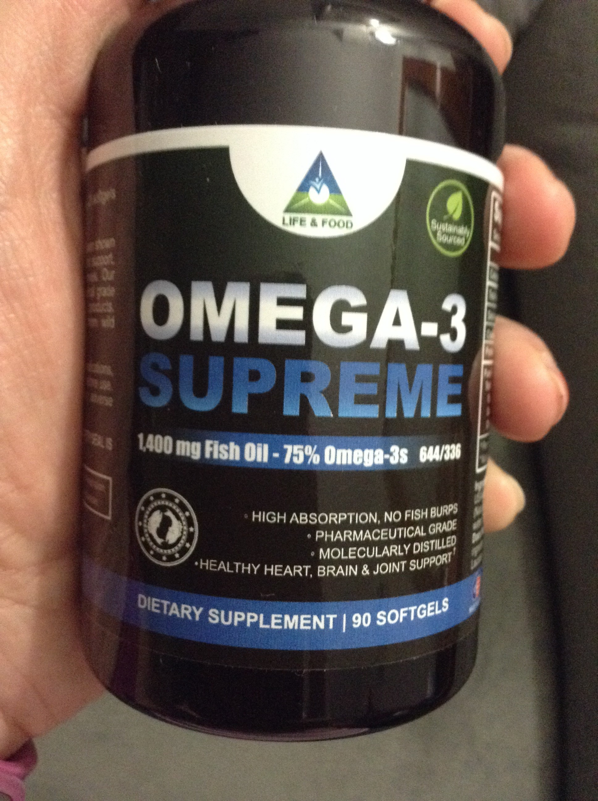 Omega 3 supreme 1400 mg fish oil concentrate by life for When to take fish oil